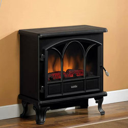 Duraflame - Duraflame 750 Black Electric Fireplace Stove with Remote Control - There is nothing cozier than a wood-burning fireplace in the winter, but if you don't have a fireplace, then I think this little electric number will not only provide warmth, but a little ambience for a small price.