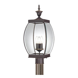 Quoizel Lighting - Quoizel Lighting OAS9009Z Oasis 3 Light Outdoor Post Light - For over seventy years, Quoizel lighting has been dedicated to the design and production of its diversified line of fine lighting products and home accessories.