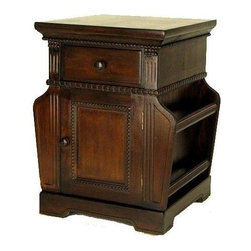 Wayborn - Magazine Cabinet in Espresso - Pinus Sylvestris. Smooth finish. Made from Chinese Pinewood. No assembly required. 19 in. W x 18 in. D x 24 in. H (32 lbs.)