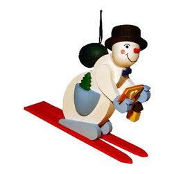 "Alexander Taron - Alexander Taron Graupner Ornament - Snowman on Skis - 3""H x 1""W x 3""D - Graupner Ornament - Snowman on Skis"