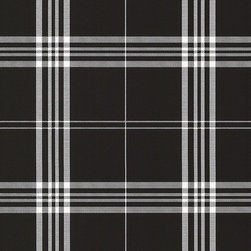 Plaid Vinyl Wall Covering - Collection: Fresh Kitchens 4, , Norwall Black & White 2