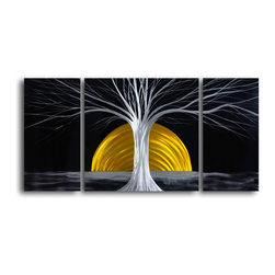 My Art Outlet - Metal Wall Art Decor Abstract Contemporary Modern Sculpture Hanging - The Rising - Name: The Rising