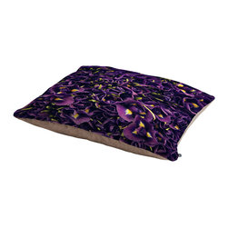 Catherine McDonald Flower Market 1 Dog Bed - Perfect for dogs, cats…heck, even a pig! With our cozy pet bed made of a fleece top and waterproof duck bottom, you're bound to have one happy animal catching some zzzz's in ultimate comfort.