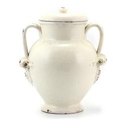 Artistica - Hand Made in Italy - Scavo Classico: Canister Urn Palla Antique White - Scavo Classico: