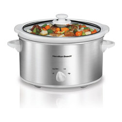 Hamilton Beach - Hamilton Beach 33140V 4 qt. Slow Cooker Multicolor - 33140V - Shop for Crock Pots and Slow Cookers from Hayneedle.com! About Hamilton BeachOne of the country's leading distributors of small kitchen appliances Hamilton Beach Brands Inc. sells over 35 million appliances every year. The company's most famous brands -- Hamilton Beach Eclectrics Proctor Silex and TrueAir -- are found in households across America Canada and Mexico. Hamilton Beach takes immense pride in their product quality wide variety of options superior customer service and brand name strength and remains committed to serving customers through Good Thinking applied to the style and function in all of their small electric appliances.