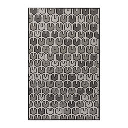 Shades of Gray Rug - Scaled to perfection, this bold rug will stylishly define any space. The unique pattern is simple yet interesting, and the shades of gray are tasteful. This hand woven wool rug is the perfect statement piece for your space.