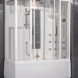 AmeriSteam ZAA208 Steam Shower Unit with Whirlpool Bathtub - The Ariel AmeriSteam ZAA208 Steam Shower and Whirlpool Bathtub combo is available for $3790.00 at SteamShowersInc.com and BathroomEtc.com. Shipping is always free! SAVE 10% off, with coupon code SSIHZ10 at SteamShowersInc.com and with coupon code: BREHZ10 on BathroomEtc.com or  Call 1-800-304-3598 to place your order today.