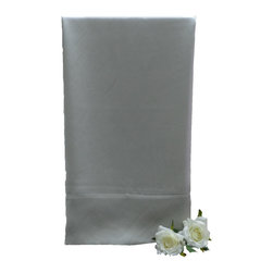 "La Mode Couture - Silk Charmeuse Silver Pillowcases, Set of 2 - 100% Silk Charmeuse.Includes 6"" hem Made in USA"