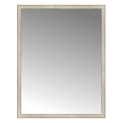 """Posters 2 Prints, LLC - 42"""" x 54"""" Libretto Antique Silver Custom Framed Mirror - 42"""" x 54"""" Custom Framed Mirror made by Posters 2 Prints. Standard glass with unrivaled selection of crafted mirror frames.  Protected with category II safety backing to keep glass fragments together should the mirror be accidentally broken.  Safe arrival guaranteed.  Made in the United States of America"""