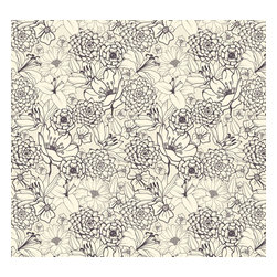 Removable Wallpaper-Sketched-Peel & Stick Self Adhesive, 24x120 - Couture WallSkins.  Your wall will love you for this.