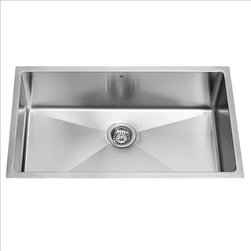 Vigo - VIGO VGR3219C 16 Gauge Kitchen Sink - Give your kitchen a makeover starting with a VIGO stainless steel kitchen sink.
