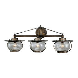 Vaxcel - Vaxcel W0018 Jamestown 3-light Vanity Parisian Bronze - Vaxcel W0018 Jamestown 3-light Vanity Parisian Bronze