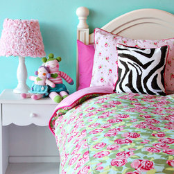 Caden Lane - Funky Rose Duvet Cover - Funky Rose Duvet Cover
