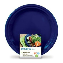 Preserve Large Reusable Plates - Midnight Blue - 8 Pack - 10.5 In - Powered by Leftovers