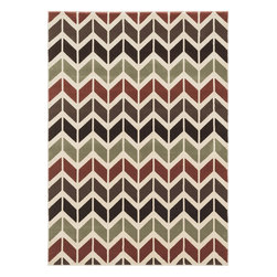 """Loloi Rugs - Loloi Rugs Shelton Collection - Brown / Multi, 5'-3"""" x 7'-7"""" - Power-loomed in Turkey of durable polypropylene, Shelton's vivid, graphic designs spotlight�dramatic zigzag chevrons, elegant ironwork and Moroccan tile motifs in a palette that is�pleasing for both him and her. Zen-like, earthy hues of rich black, brick, brown, ivory, misty�blue and camel set a surprisingly soothing tone that can help add style to your home and�order to your day.�"""