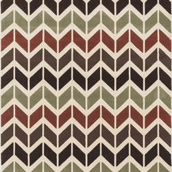 "Loloi Rugs - Loloi Rugs Shelton Collection - Brown / Multi, 3'-10"" x 5'-7"" - Power-loomed in Turkey of durable polypropylene, Shelton's vivid, graphic designs spotlight�dramatic zigzag chevrons, elegant ironwork and Moroccan tile motifs in a palette that is�pleasing for both him and her. Zen-like, earthy hues of rich black, brick, brown, ivory, misty�blue and camel set a surprisingly soothing tone that can help add style to your home and�order to your day.�"