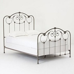 "Anthropologie - Lydia Bed - Iron, steelHead: 66""HFoot: 47""HHandmade in USA"