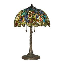 Dale Tiffany - Floral Dale Tiffany Table Lamp Hand-Rolled - Product Details