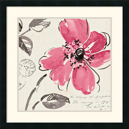 Amanti Art - Windy I Framed Print by Pela Studio - Perfect pink; loose and lovely lines by Pela Studio capture the freshness of this floral subject  Hang this fine art print on your wall and give it a permanent bloom.