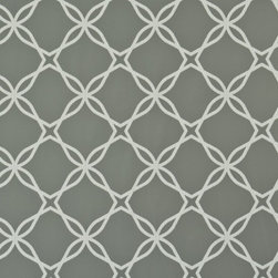 Twisted Grey Geometric Lace Wallpaper - If this wallpaper could talk, it'd speak of stolen moments, shared secrets, untold stories. The plot thickens as this cool backdrop exposes an intricately interlaced pattern, divulging sultry shades of grey, setting the tone and tonal palette. The big reveal is that this chic cover is full disclosure just waiting to be unveiled.