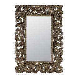 Cooper Classics - Cooper Classics Tara Mirror, Silver Crackle - -Silver Crackle finish