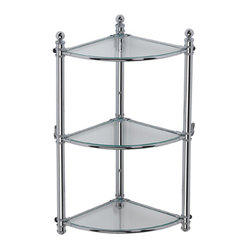 Windsor Wall Corner Shelving Unit in Chrome