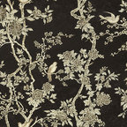 Marlowe Floral - Ebony - Floral Wallpaper - I'm not quite sure if this paper looks Asian, English or French to me. Perhaps that's why it's so striking and intriguing.