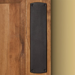 Traditional Push Plate - Bronze Patina - Classic and refined, this heavy-duty Traditional Push Plate will be a functional addition to any door in your home. Made of bronze, this push plate features exposed mounting screws, which are included.