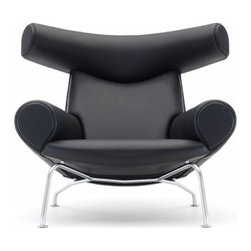 IFN Modern - Ox Style Chair and Ottoman - Upholstered in 100% Full Grain Italian LeatherStainless steel frameComfort with a sleek and modern designComes with foot-caps to prevent damaging floor 5 Year Warranty