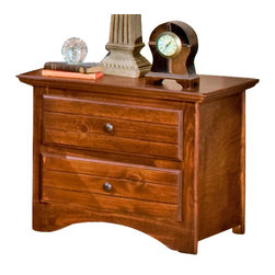 Chelsea Home Furniture - Chelsea Home 2-Drawer Nightstand in Cocoa - Providing home elegance in upholstery products such as recliners, stationary upholstery, leather, and accent furniture including chairs, chaises, and benches is the most important part of Chelsea Home Furniture's operations. Bringing high quality, classic and traditional designs that remain fresh for generations to customers' homes is no burden, but a love for hospitality and home beauty. The majority of Chelsea Home Furniture's products are made in the USA, while all are sought after throughout the industry and will remain a staple in home furnishings.