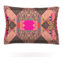 """Kess InHouse - Vasare Nar """"New Wave Zebra"""" Pattern Pink Pillow Sham (Cotton, 30"""" x 20"""") - Pairing your already chic duvet cover with playful pillow shams is the perfect way to tie your bedroom together. There are endless possibilities to feed your artistic palette with these imaginative pillow shams. It will looks so elegant you won't want ruin the masterpiece you have created when you go to bed. Not only are these pillow shams nice to look at they are also made from a high quality cotton blend. They are so soft that they will elevate your sleep up to level that is beyond Cloud 9. We always print our goods with the highest quality printing process in order to maintain the integrity of the art that you are adeptly displaying. This means that you won't have to worry about your art fading or your sham loosing it's freshness."""