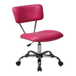 Avenue Six - Avenue Six Vista Task Office Chair in Pink - Avenue Six - Office Chairs - ST181V355 -