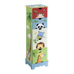 Teamson Design - Teamson Kids Sunny Safari 5-Drawer Cabinet - Teamson Design - Kids Dressers - TD0031A. Our Sunny Safari Collection Drawer Cabinet features 5 cabinets to help your child organize his weekday attire and/or daily items. It has a unique hand painted and hand crafted design that is sure to bring joy to your children!