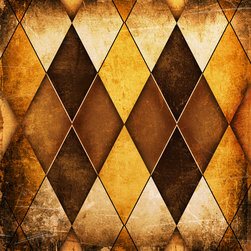Argile Wallpaper - Create a rustic stained window look on your wall while protecting it!