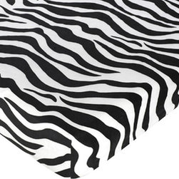 Sweet Jojo Designs - Pink Zebra Print Crib Sheet - The Pink Zebra Print Crib Sheet is the perfect accessory for your Sweet Jojo Designs Bedding Set. An extra sheet will always come in handy!