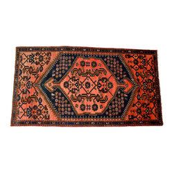 Dark Pink Oriental Rug - A rug does wonders to a bland office, especially to a bland wall-to-wall carpet office. Don't be afraid to layer, and by all means, avoid those plastic covers under your chair. A thick rug will stay in place under your chair, and and if you're really afraid of damaging your rug, opt for an already antiqued look.