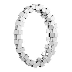 Orbital Mirror - Framed in mirror cubes, this mirror would be great in an entry, bath or bedroom.
