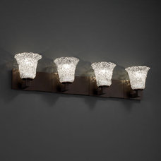 Justice Design Veneto Luce Modular 4-Light Bath Bar in Dark Bronze GLA-8924-20-L