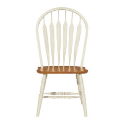 International Concepts - International Concepts Madison Park Windsor Side Chair in Oak/Pearl - International Concepts - Dining Chairs - 1C601206 - Simple. Classic. The International Concepts Windsor chair is a piece that has timeless appeal. Windsor chairs are as popular and sturdy today as they were when they were invented in the late 1700's.