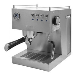 Ascaso - Ascaso Steel UNO Professional Version 2 Brushed Stainless Espresso & Cappuccino - Get out of your daily grind — and into a delicious new one — with this professional grade espresso and cappuccino machine. It has all the features you need for café quality drinks — brass boiler with an external heater, a removable drip tray, easy gauges and controls and a cup warmer — all in one beautiful brushed stainless package. Order up!