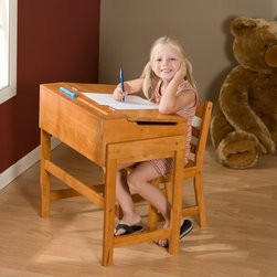 Lipper - Schoolhouse Desk and Chair Set - Pecan Multicolor - 564P - Shop for Desks from Hayneedle.com! From ABCs to addition this Schoolhouse Desk and Chair Set - Pecan is perfect for your little learner. The durable all-wood construction assures you a lasting piece of furniture to withstand all the wear and tear a child can offer. With a handy flip-top feature for additional storage space this desk allows your children to have fun organizing all their learning tools. The rich pecan finish will complement any room's current decor.About Lipper InternationalLipper International provides exceptionally valued kitchen home & office organizers including the Soho Spice Collection; single serve coffee pod organizers; kitchen pantryware cutting boards and tools; serving & entertaining accessories; and children's furniture and toy chests. Lipper uses the finest quality materials including stainless steel bamboo acacia wood chrome- and powder-coated metals and other fine quality hard woods. Known for product functionality as well as beauty and quality craftsmanship Lipper International combines quality style service and price into every product and collection it offers.