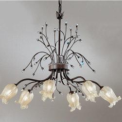 Classic Lighting - Beverly Hills Treviso Bronze Six-Light Chandelier - Beverly Hills Treviso Bronze Six-Light Chandelier Classic Lighting - 4066-TVB