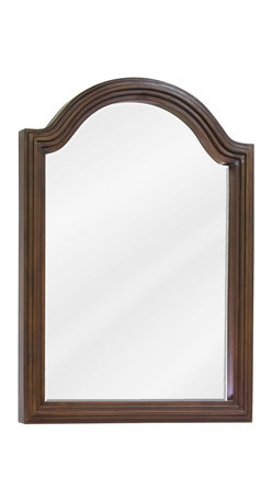 "Hardware Resources - Elements Bathroom Mirror - Walnut Compton Mirror by Bath Elements 22"" x 30"" walnut reed-frame mirror with beveled glass Corresponds with VAN029E, VAN029-48E, VAN029D-60E -"