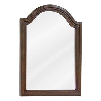 "Hardware Resources - Elements Bathroom Mirror - Walnut Compton Mirror by Bath Elements. 22"" x 30"" walnut reed-frame mirror with beveled glass. Corresponds with VAN029E, VAN029-48E, VAN029D-60E"