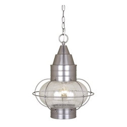 Vaxcel Lighting - Vaxcel Lighting OD21836BN Nautical Traditional Outdoor Hanging Lantern - Vaxcel Lighting OD21836BN Nautical Traditional Outdoor Hanging Lantern