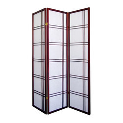 Ore International - Girard 3-Panel Room Divider - R542CH - Shop for Room Dividers from Hayneedle.com! Add style to any room with the contemporary Girard 3-Panel Room Divider. This screen has a solid painted pine frame with rice paper dividers. It features three hinged sections that flex and fold to accommodate to your space and comes fully assembled. About Ore International Inc.Ore International Inc. creates beautiful accent furniture lighting and gifts for the home. Their goal is to be the leading provider of innovative superior home products worldwide. Ore International is based in Santa Fe Springs California and has a Customer First attitude. Their products are designed to match modern and classic tastes and fit today's homes. From room dividers to lamps end tables to entertainment centers you'll discover quality craftsmanship at a fair price in all Ore International products.
