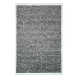 """Loloi - Loloi Happy Shag HP-01 (Steel) 9'3"""" x 13' Rug - Hand-tufted in China of 100% polyester, the Happy Shag Collection showcases a variety of neutral and vibrantly colored shags with an amazing, cushiony feel underfoot. Polyester strands strategically surface from the plush pile to add an element of chicness and visual interest. With such a soft feel and lively color choices, Happy Shag is a great choice for cheerful family rooms or bedrooms."""