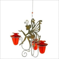"Fairy Dust Hummingbird Feeder - There's something about seeing a hummingbird that makes you stop and say ""Ohhhhh!"" and get excited. Share that excitement by giving this hummingbird feeder!"