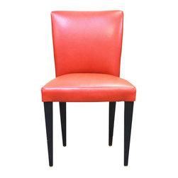 Orange Leather Dining Chair - $500 Est. Retail - $300 on Chairish.com -