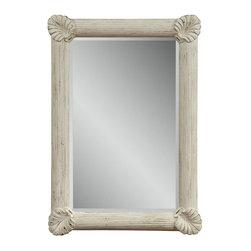 Bassett Mirror - Sea Breeze Antique Coastal White Wall Mirror - Sea Breeze Antique Coastal White Wall Mirror  by Bassett Mirror